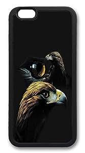 iPhone 6 Case, Soft Flexible TPU Bumper Protective Case Black Skin Scratch-Proof Case for iPhone 6 (4.7 inch) - Elk At Dusk Pattern
