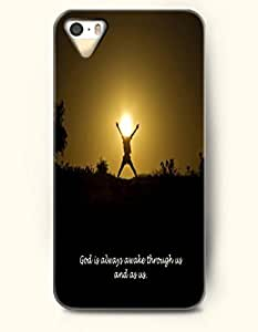 iPhone 4 4S Case OOFIT Phone Hard Case **NEW** Case with Design God Is Always Awake Through Us And As Us.- Pious Monologue - Case for Apple iPhone 4/4s