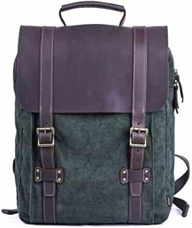 278863ee8808 Gootium Tie-Dyed Backpack - Canvas Leather Travel Daypack Vintage Rucksack