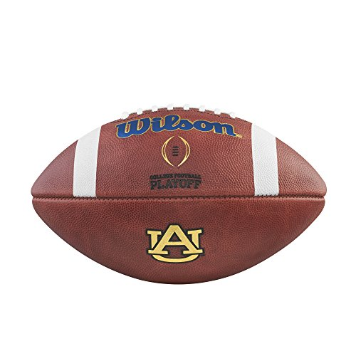 Wilson NCAA Auburn Tigers Football, Leather,One Size,Leather Auburn Tigers Leather Football