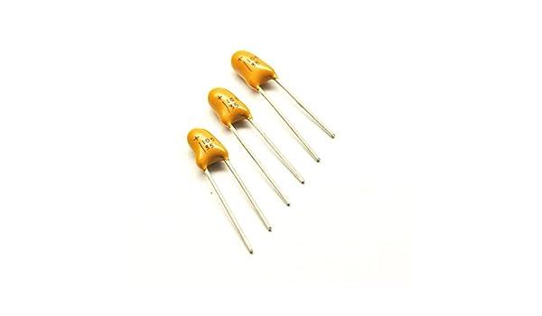 5pcs 35V 1uF 35V Radial DIP Tantalum Capacitor