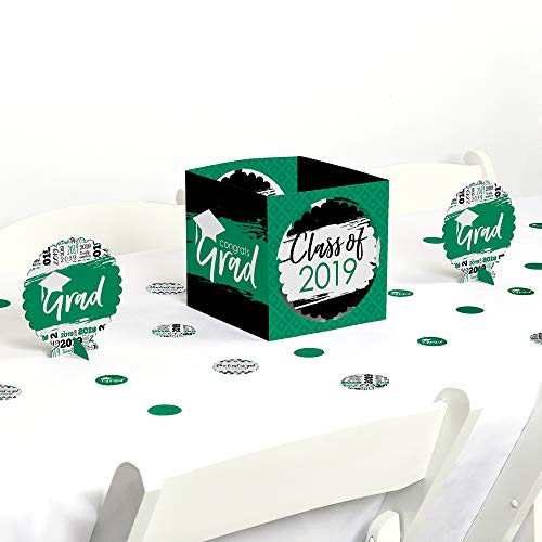 Green Grad - Best is Yet to Come - Green 2019 Graduation Party Centerpiece & Table Decoration Kit