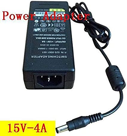 60W LED power adapter,DC port 5.52.1 or 5.52.5 Plug Type: US Pukido DC 15V 4A Switch power supply ,20pcs//lots -