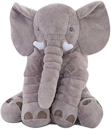 L&C Almohada De Elefante Gigante para Bebés, Juguetes De Felpa Suave para Niños, Muñecas para Dormir Confortables para Niños, Juguete De Felpa De Elefante 60cm