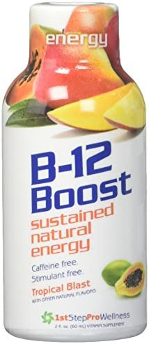 1st Step for Energy B-12 Shot Maximum Energy, Tropical Blast, 2-Ounce, 12 per Box