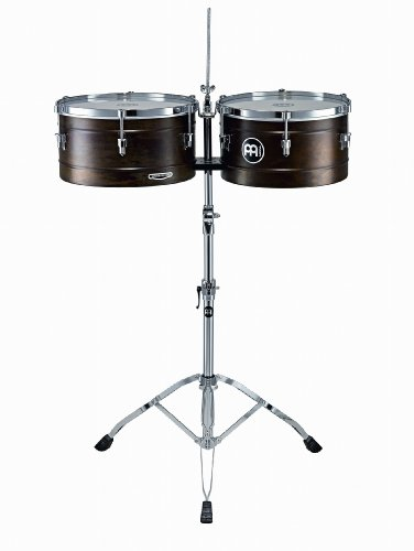 (Meinl Percussion MT1415RR-M Marathon Series Antique Matte Finish Steel Timbales, 14-Inch and 15-Inch with Stand)