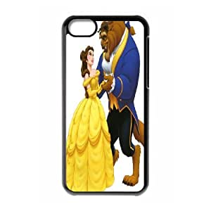 Unique Design -ZE-MIN PHONE CASE For Iphone 5c -Beauty And The Beast Pattern 7