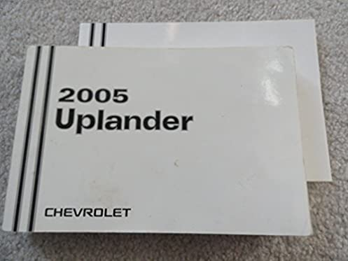 amazon com 2005 chevrolet uplander owners manual chevrolet books rh amazon com 2005 chevy uplander owners manual 2005 chevrolet uplander owner's manual