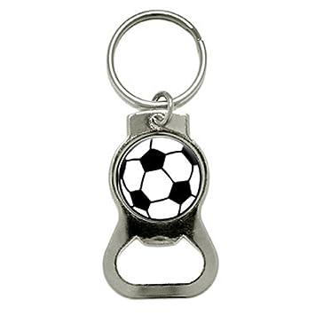 Balón de fútbol - Botella Cap abridor Llavero Anillo: Amazon ...