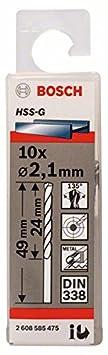 Bosch 2 608 585 474 - Broca para metal HSS-G, DIN 338-1,9 x 22 x 46 mm (pack de 10) 2608585474