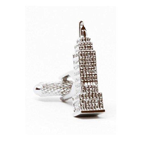 Executive Cufflinks (Mens Executive Cufflinks 3d New York City Big Apple Empire State Building Cuff Links)