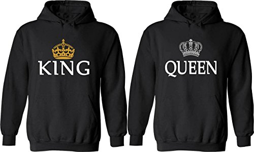 couple hoodies king queen matching his and her hoodies. Black Bedroom Furniture Sets. Home Design Ideas