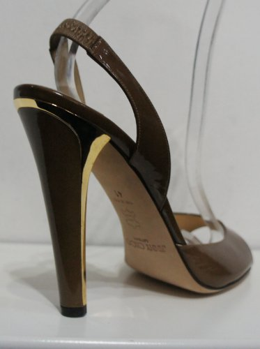 Jimmy Choo  Kandy Kan, Escarpins pour femme Marron Patent Latte (Light Brown) 41.5 (8 UK)
