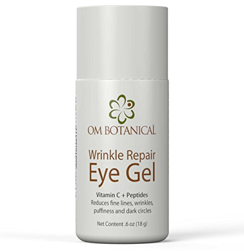 Eye Gel w Peptides, Vitamin C, Cucumber For Wrinkles, Under Eye Bags and Dark Circles Safest All Natural Under Eye Cream With Organic Argan Oil Day Night Anti-Aging Treatment For Men Women