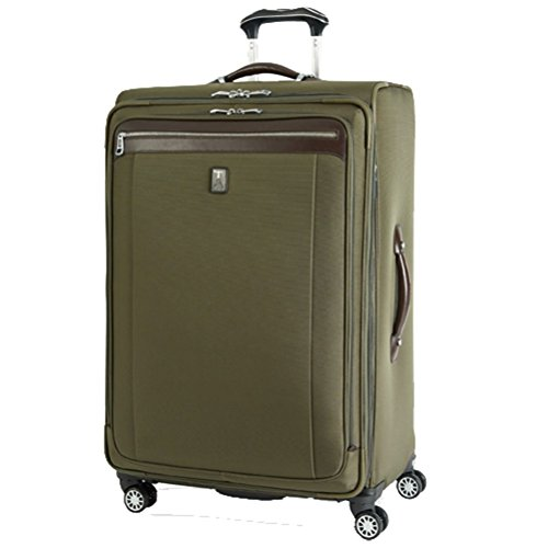 agna 2 25'' Expandable Spinner Suiter (Olive,25-inch) (25' Expandable Spinner Luggage)