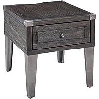 Todoe End Table Rectangular/Dark Gray/Contemporary