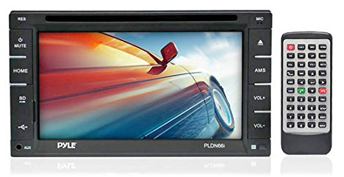 Pyle PLDN66I - 6.5-Inch Double DIN Touch Screen LCD Monitor Receiver with USB/SD Card Readers, CD/DVD Player, AM-FM (Infiniti G35 Center Console compare prices)