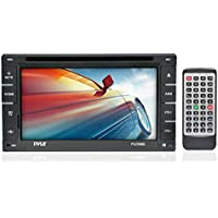 Pyle PLDN66I - 6.5-Inch Double DIN Touch Screen LCD Monitor Receiver with USB/SD Card Readers, CD/DVD Player, AM-FM