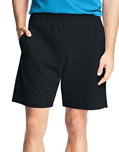 Hanes Men's Jersey Short With Pockets, Black, 4X - Mens Shorts 4x