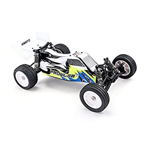 HIMOTO E12XBL RC Brushless Racing Car 1/12 Scale 2.4G 2WD Electric Power Off Road Buggy Car with 50 km/h+ High Speed, White & Blue