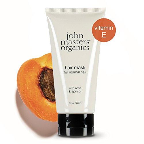 John Masters Organics - Rose & Apricot Hair Mask - Hair Mask for Normal Hair with Rose & Apricot - Restore & Nourish Hair, Balance Moisture Levels, Repair Split Ends, Cleanse the Scalp - 2 oz