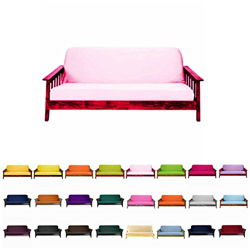 (Magshion@Futon Cover Slipcover (Baby Pink, Full (54x75 in.)))