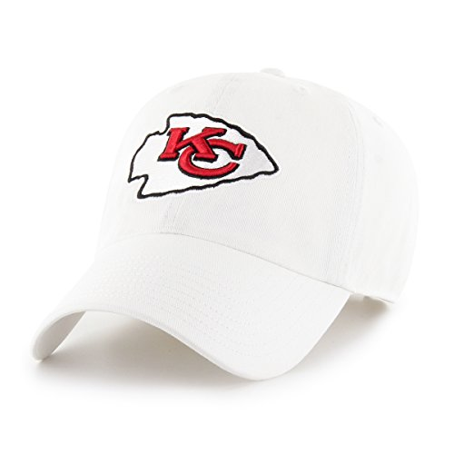 OTS NFL Kansas City Chiefs Male NFL Challenger Adjustable Hat, White, One Size ()