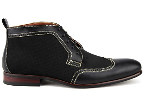 Mens 806383 Wing Tip Perforated Lace Up Dress Boots Black Om5q8