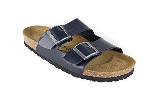 JOE N JOYCE Men London Nappa Leather Slippers Blue jHNXJRS