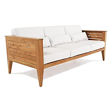 Amazon.com : Craftsman Teak Sofa : Patio Sofas : Garden ...