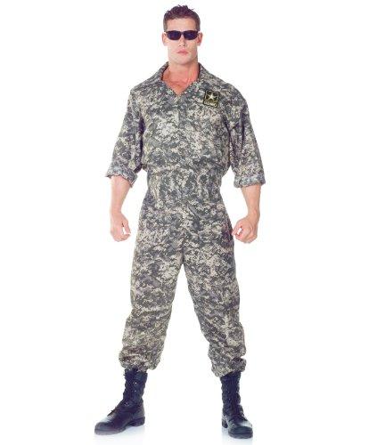 (Underwraps Men's U.S. Army Jumpsuit, Camo, One)