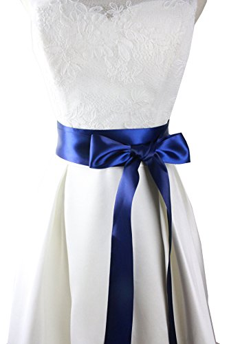 -2-wide-simple-classic-colorful-ribbon-sash-for-dress-formal-wedding-dress-navy