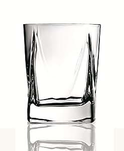 Luigi Bormioli Alfieri 12-Ounce Double Old Fashioned Glasses, Set of 4