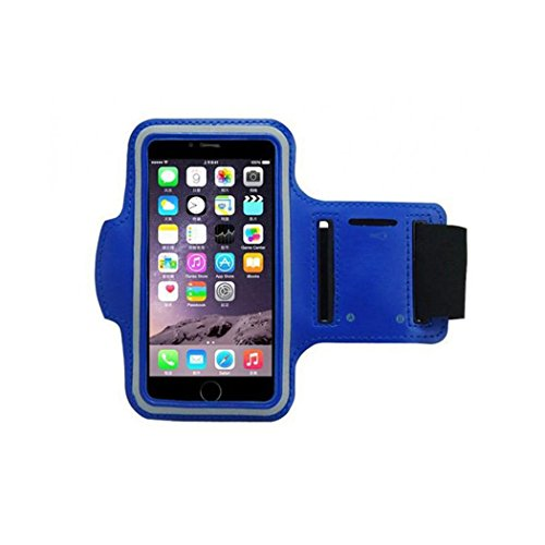 iPhone 6 Armband, Morris Water Resistant Sports Armband with Key Holder for iPhone 6, 6S (4.7-Inch), Galaxy S3/S4, iPhone 5/5C/5S, Bundle with Screen Protector (Blue)