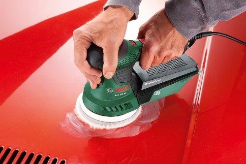 Mit einem Exzenterschleifer kann man sich auch der Autopflege widmen.