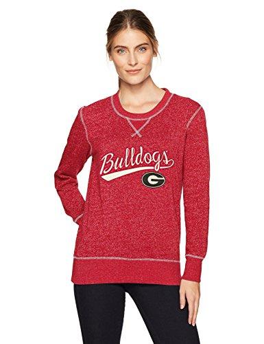 (NCAA Georgia Bulldogs Women's Ots Seneca Crew Neck Pullover, Large, Red)