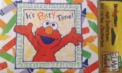 Sesame Street Elmo's World Invitations w/ Envelopes -