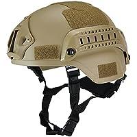 WHIO Protector de cabeza táctico militar para casco Airsoft Gear Paintball con soporte para cámara deportiva Night…