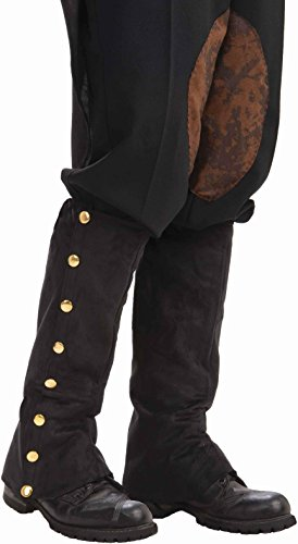 [Forum Novelties Men's Adult Steampunk Suede Spats Costume Accessory, Black, One Size] (Halloween Accessories Boots)