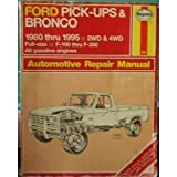 Ford Pu and Bronco, 1980-95, Haynes Publications Staff, 1563921529