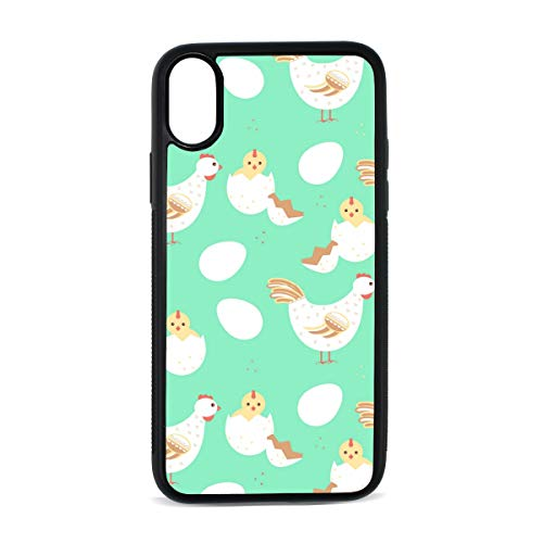 Green Rooster Newborn Chick iphoneX case Mobile Phone Shell Printing Edge Fashion