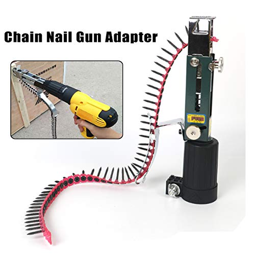 New Automatic Chain Nail Gun Adapter Screw Gun for Electric Drill Woodworking Tool Cordless Power Drill ()