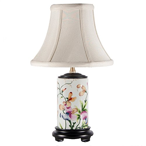 Small Lovely Floral Porcelain Table Lamp ()