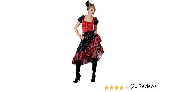 Wicked Wicked Ladies Puede Puede Saloon Girl Rojo Outfit Disfraz para Disfraz de Moulin Rouge – Salvaje Oeste Burlesque...: Amazon.es: Juguetes y juegos