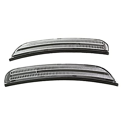 TopPick 68214127AA-68214126AA-CR Bumper Reflector Lights FOR Dodge Charger 2015-2020 Clear/Black: Automotive