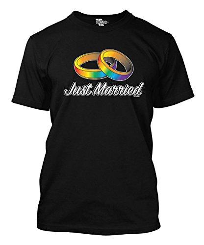 Just Married Lesbian Mens T shirt