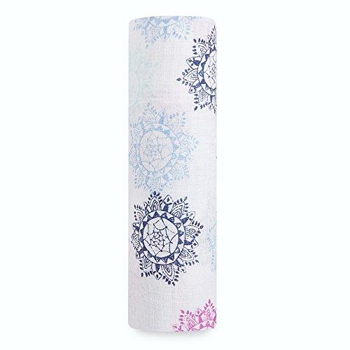 Wrap Around Single Stroller (aden by aden + anais swaddle single, pretty pink - medallion)