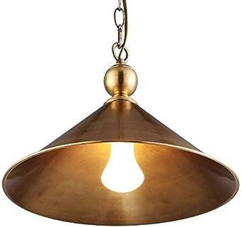 Lumière pendante de plafond de cuivre, source lumineuse
