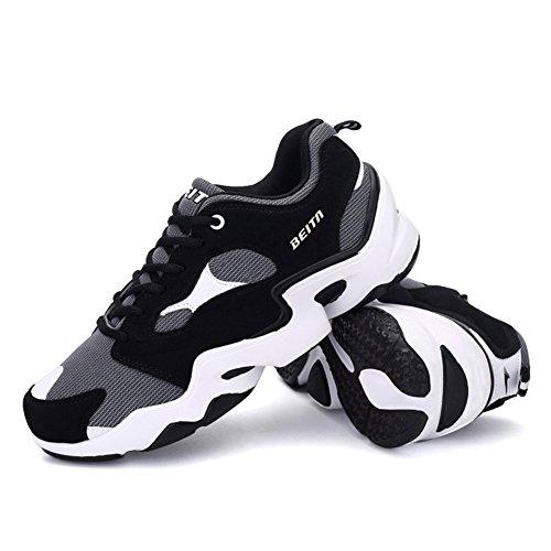 Männer & Frauen Atmungsaktive Mesh Schuhe, Laufschuhe, QZbeita Sneaker Übung Grau