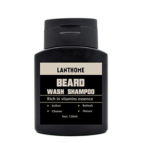 OUNONA Lanthome Beard Wash Champú Acondicionador Hidratante Barba Limpia Líquido Cabello Vitaminas Esencia el Cuidado del...